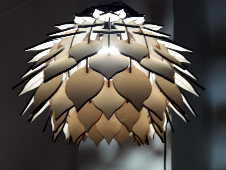 Fotografía Lámpara Piña 1