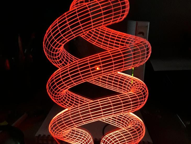 Fotografía Doble hélice luz roja
