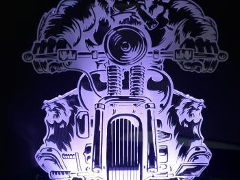 Lámpara LED Gorila motero