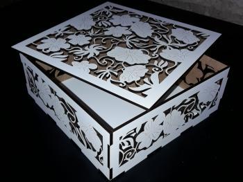 Caja blanca calada