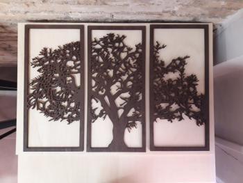 Árbol en tríptico