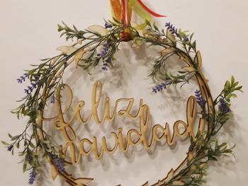 Corona fina de Navidad
